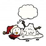 Melting snowman — Stock Vector