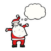 Santa with speech bubble — Stock Vector