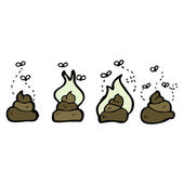 Poo on a white background — Stock Vector