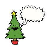 gl cklich tanzende weihnachtsbaum stockvektor. Black Bedroom Furniture Sets. Home Design Ideas