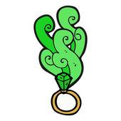 Anel de esmeralda de magia — Vetorial Stock