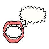 Vampire teeth — Stock Vector