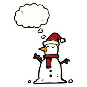 Christmas snowman — Stock Vector