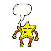 Dans star — Stok Vektör