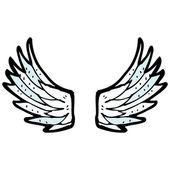 Alas de ángel — Vector de stock
