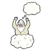 God on cloud — Vector de stock