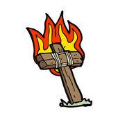 Flammande korset — Stockvektor