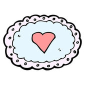 Love heart with border — Stock vektor