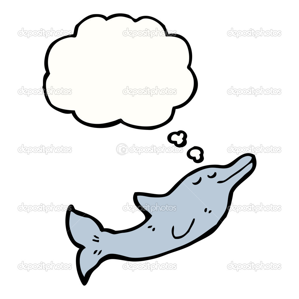 海豚简笔画手绘