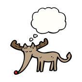 Rudolf the red nosed reindeer — Stock Vector