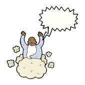 God on cloud — Stock Vector
