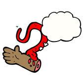 Braccio mordace serpente veleno — Vettoriale Stock