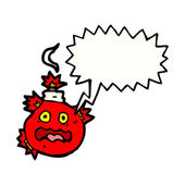 Red crazy bomb — Stock Vector
