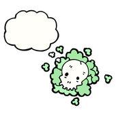 Spooky gas cloud — Stock Vector
