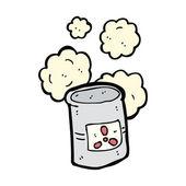 Desechos tóxicos sobre un fondo blanco — Vector de stock