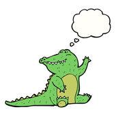Waving alligator — Stock Vector