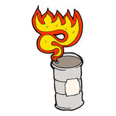 Burning oil drum — Stock Vector