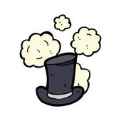 Battered old top hat — Stock Vector
