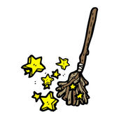 Witch broom — Stock Vector