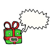 Christmas present monster — Stock Vector