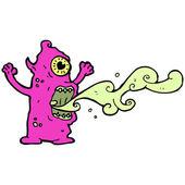 見るも恐ろしい怪物 — ストックベクタ