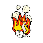 Crânio ardente — Vetorial Stock