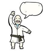 Man doing karate chop — Stock Vector