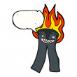 Stock Vector: Flaming trousers