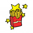 Stock Vector: Junk food fries