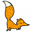 Cute little fox - Stock Vector