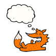 Funny little  fox laughing - Imagen vectorial