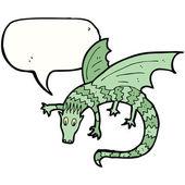 Green dragon — Stock Vector