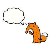 Confused fox — Stock Vector