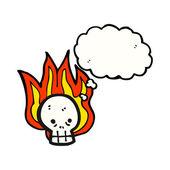 Flaming skull — Stock Vector
