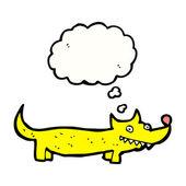 Little yellow dog — Stock Vector