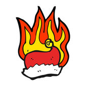 Flaming santa hat — Stock Vector