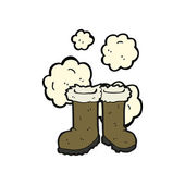 Stivali su sfondo bianco — Vettoriale Stock