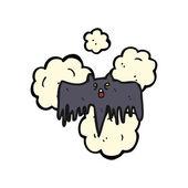 Spooky pipistrello halloween — Vettoriale Stock