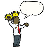 Roi parler serment — Vecteur