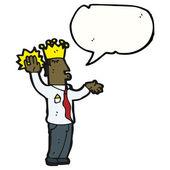 Rey hablando juramento — Vector de stock