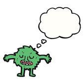 Little green monster — Stock Vector