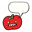 Stock Vector: Ugly apple