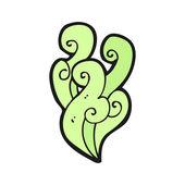 Zelený kouř vírová — Stock vektor