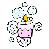 Pink candles — Stock Vector