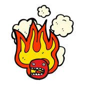 火红的图释脸 — 图库矢量图片