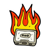 Masterizzazione musicassetta — Vettoriale Stock
