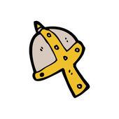 中世纪的头盔 — 图库矢量图片