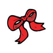Decorative red bow — Vettoriale Stock