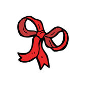 Decorative red bow — Stockvector