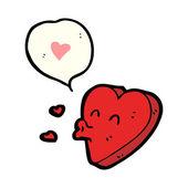 Funny valentine's day heart — Stock Vector